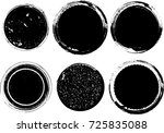 grunge post stamps collection ... | Shutterstock .eps vector #725835088