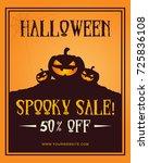 design halloween party poster... | Shutterstock .eps vector #725836108