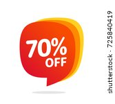 70 discount  sales vector... | Shutterstock .eps vector #725840419