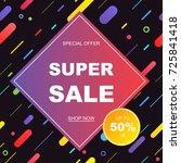 sale banner template design.... | Shutterstock .eps vector #725841418