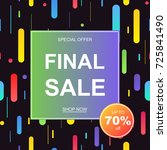 sale banner template design.... | Shutterstock .eps vector #725841490