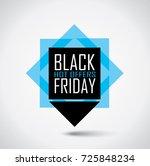 black friday sale banner in... | Shutterstock .eps vector #725848234