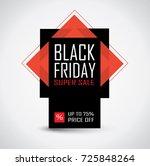 black friday sale banner in... | Shutterstock .eps vector #725848264