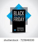 black friday sale banner in... | Shutterstock .eps vector #725848330