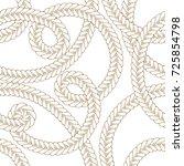 tangled braids vector seamless...   Shutterstock .eps vector #725854798