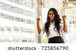 portrait of smiling young black ... | Shutterstock . vector #725856790