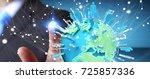 businessman on blurred...   Shutterstock . vector #725857336