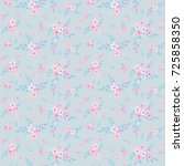 fashionable pattern in small... | Shutterstock . vector #725858350