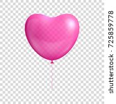 heart shaped balloon... | Shutterstock .eps vector #725859778