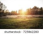 autumn road  | Shutterstock . vector #725862283