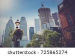 buildings in downtown toronto ... | Shutterstock . vector #725865274