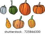 set of hand drawn vector... | Shutterstock .eps vector #725866330