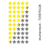star rate. vector icon on white ... | Shutterstock .eps vector #725870128