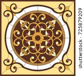stained glass window. abstract... | Shutterstock .eps vector #725879209