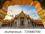 the arch at the marble temple ... | Shutterstock . vector #725880700