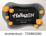 happy halloween calligraphy... | Shutterstock .eps vector #725883280