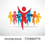 running people set of symbols ... | Shutterstock .eps vector #725886970