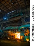 a blast furnace at a steel... | Shutterstock . vector #725887093