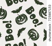 halloween theme seamless pattern | Shutterstock .eps vector #725887153