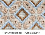 element handmade embroidery on... | Shutterstock . vector #725888344