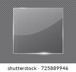 vector glass frame. isolated on ... | Shutterstock .eps vector #725889946
