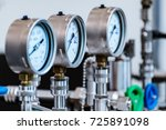 mechanical pressure gauges.... | Shutterstock . vector #725891098