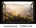 landscape nature view... | Shutterstock . vector #725891140