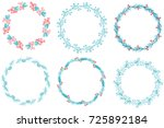 christmas set of decorative... | Shutterstock .eps vector #725892184