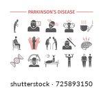 parkinson's disease. treatment. ... | Shutterstock .eps vector #725893150