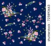 vintage seamless pattern in... | Shutterstock .eps vector #725893663