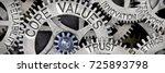 macro photo of tooth wheel... | Shutterstock . vector #725893798