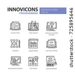 programming   modern essential...   Shutterstock .eps vector #725895646