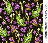 spring flowers  snowdrop  may...   Shutterstock . vector #725897614