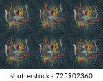 seamless decorative background  ... | Shutterstock . vector #725902360