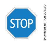 vector illustration of stop... | Shutterstock .eps vector #725904190
