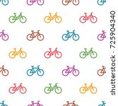 seamless pattern with colorful... | Shutterstock . vector #725904340