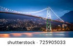 lions gate bridge with north... | Shutterstock . vector #725905033