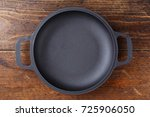 portioned cast iron frying pan... | Shutterstock . vector #725906050