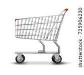 shopping cart isolated on white ... | Shutterstock .eps vector #725906230