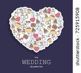 wedding vector background with...   Shutterstock .eps vector #725915908