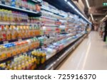 blurred supermarket product for ... | Shutterstock . vector #725916370