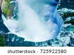 beautiful niagara falls aerial... | Shutterstock . vector #725922580