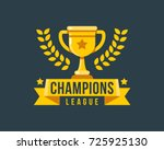 champions league gold cup icon... | Shutterstock .eps vector #725925130