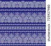 paisley illustration pattern | Shutterstock .eps vector #725927980