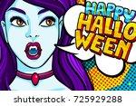halloween illustration. vampire ... | Shutterstock .eps vector #725929288