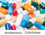 pharmaceutical medicament  with ... | Shutterstock . vector #725929564