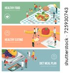 nutrition diet and healthy... | Shutterstock .eps vector #725930743
