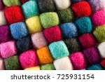 geometric background with balls ... | Shutterstock . vector #725931154