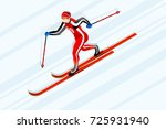 cross country skiing athlete