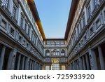 gallery uffizi in florence  ... | Shutterstock . vector #725933920